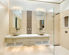Gordon St, Balwyn contemporary bathroom