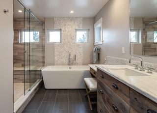 Gorgeous Custom Bathroom With Extra Large Shower Rustic Bathroom Denver By Jm Kitchen Amp Bath