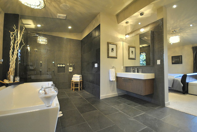 Gorgeous master ensuite bath contemporary bathroom for Images of en suite bathrooms