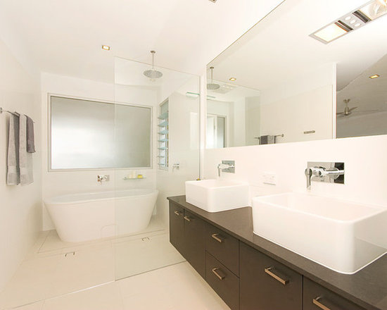Small Bath Design Ideas, Pictures, Remodel & Decor with a Trough Sink ...