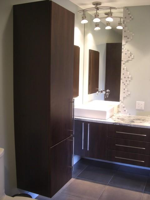 Gradient Shower Mediterranean Bathroom Chicago By
