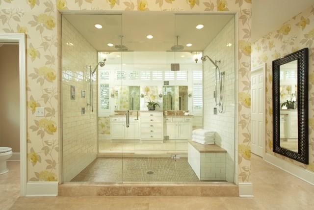 Graham Hill Road Residence Master Bathroom transitional-bathroom