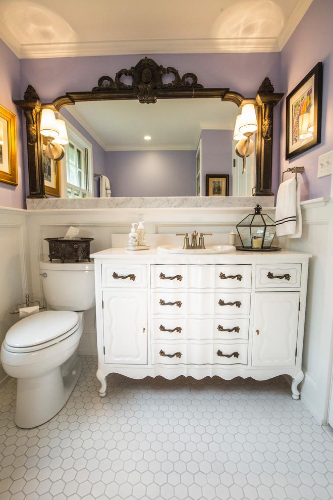 Grand Ave Hall Bath - Eclectic - Bathroom - Kansas City ...