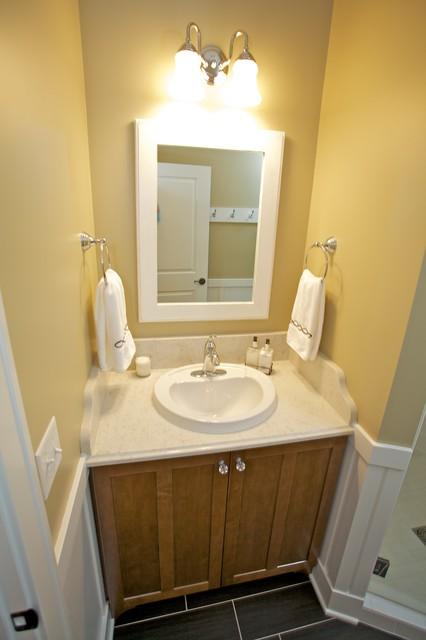 Grand Haven Cottage Rebuild traditional-bathroom