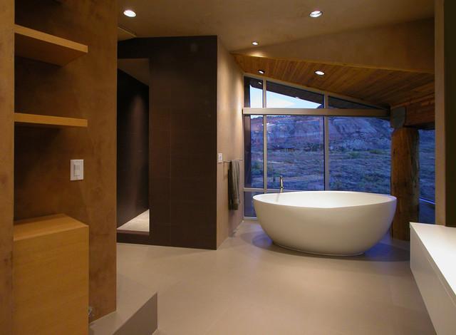Inspiration for a contemporary bathroom remodel in Denver
