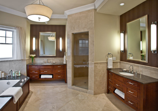 Grand master bath for Master bath pictures