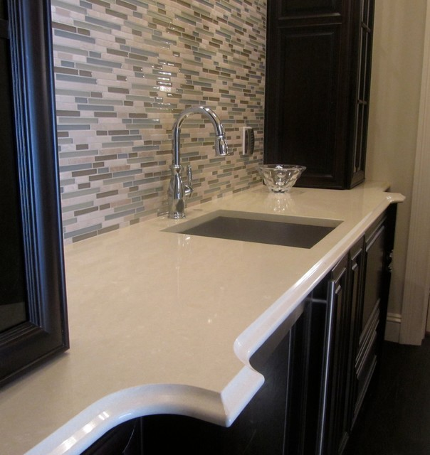 Granite and Engineered Quartz countertops traditional-bathroom