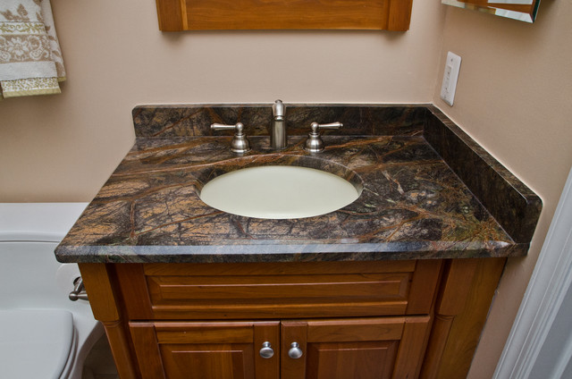 Granite For Bathroom Vanity granite bathroom vanities and tub surrounds - eclectic - bathroom
