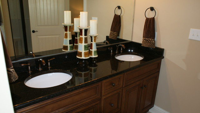 Granite countertops - Black marble bathroom countertops ...