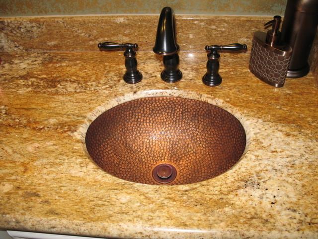 Granite traditional-bathroom