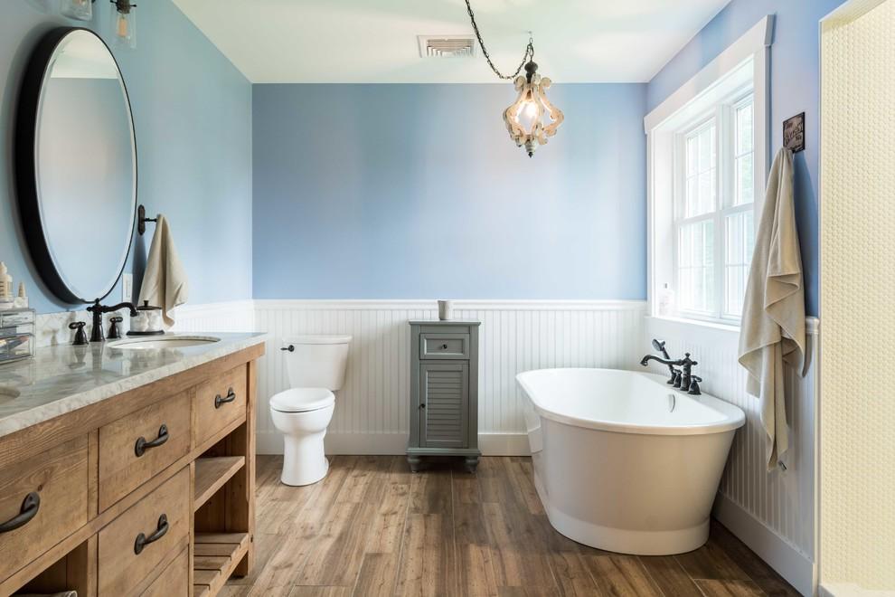 Granite Ridge Farmhouse - Farmhouse - Bathroom - Portland ...
