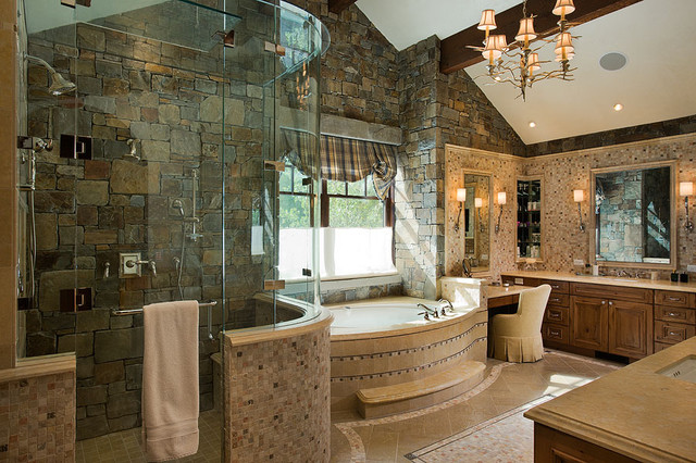 Granite ridge timber frame jackson hole wy traditional for Custom bathroom design