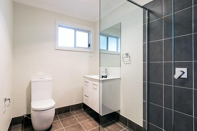 Granny Flat, Lethbridge Park contemporary-bathroom