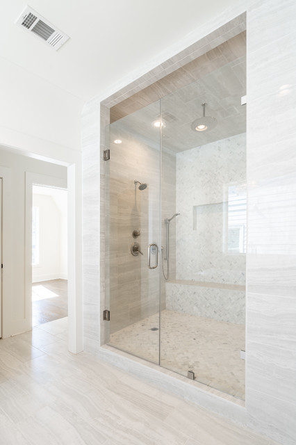 Example of a trendy bathroom design in Atlanta