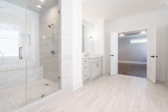 Inspiration for a contemporary bathroom remodel in Atlanta