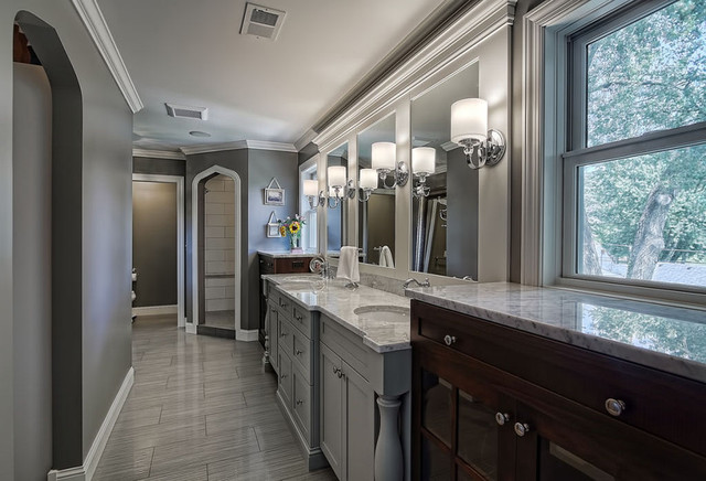Gray Bathroom Traditional Bathroom Minneapolis By