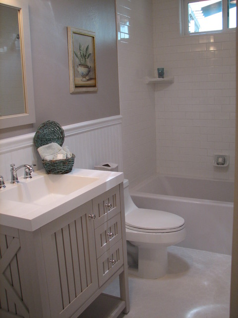 Gray Guest Bath Traditional Bathroom