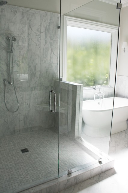 Gray is the new white traditional-bathroom