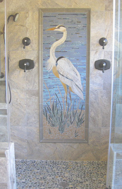 Great Blue Heron Tropical Bathroom Charleston By