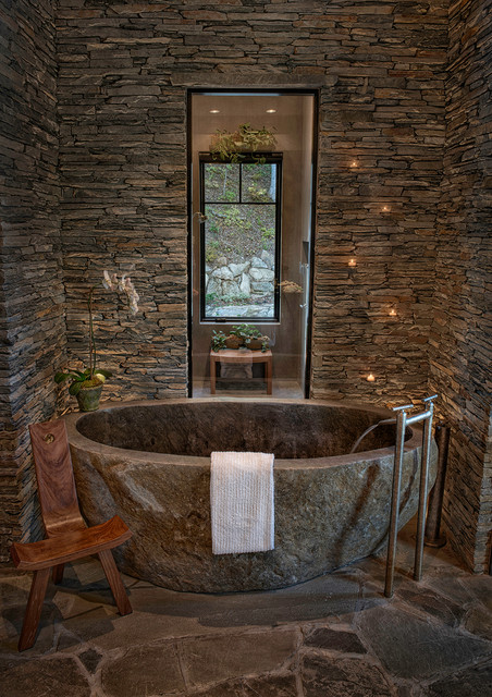 Great Camp Court rustic bathroom. Great Camp Court   Rustic   Bathroom   by In Site Designs
