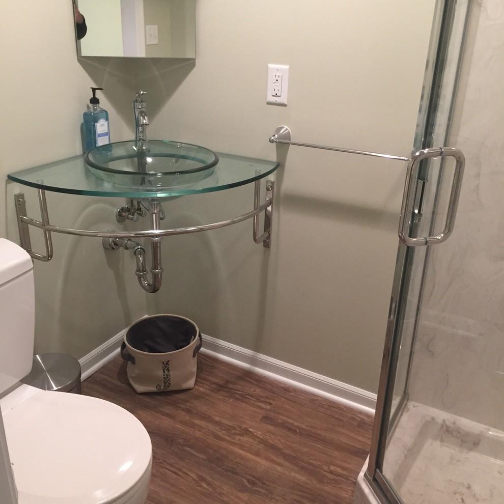 Great Tiny Bathroom Remodel - Transitional - Bathroom ...