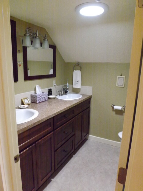 Great use of tight space traditional bathroom other for Tight bathroom