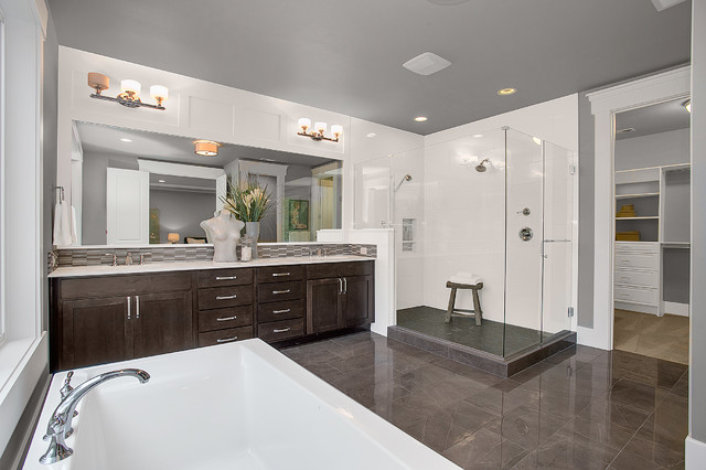 Greater seattle area the parthenon guest bathroom for Seattle area home builders