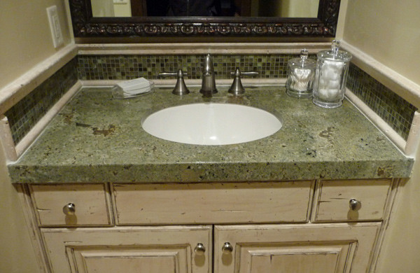 green bathroom countertop traditional bathroom other