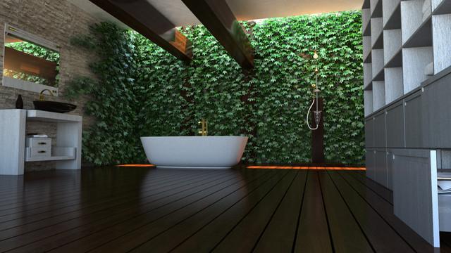 Green BeTH modern-bathroom