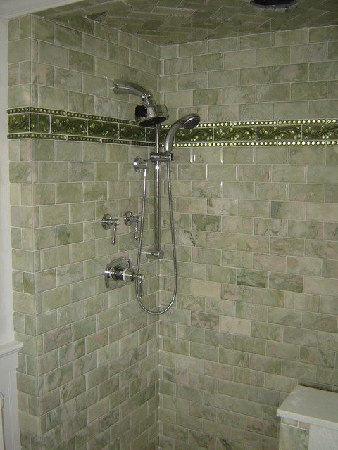 green marble tile bathroom green marble subway tile shower 18578