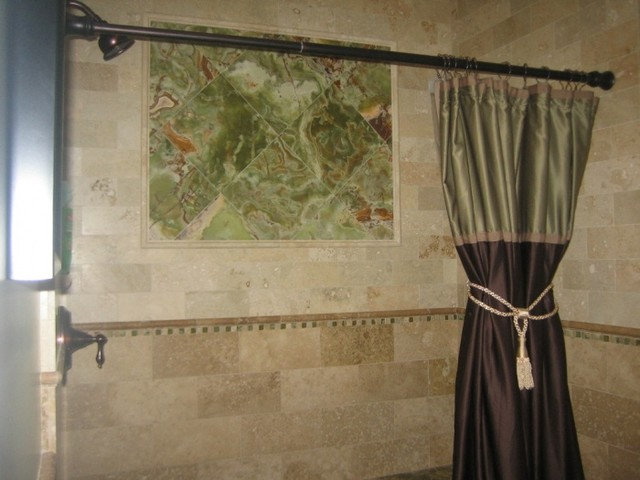green onyx wall tile with tuscany travertine