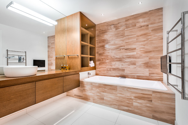 Green Renovation Contemporary Bathroom Auckland By Nichola Blakely Design