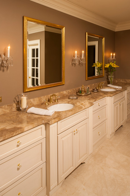 """Green"" Traditional Vanity with Shower traditional-bathroom"