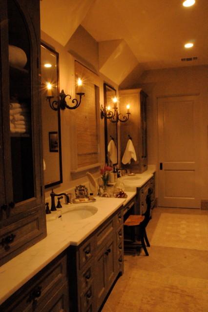 Green tree house traditional bathroom houston by texas fine home builders - Tree house bathroom ...