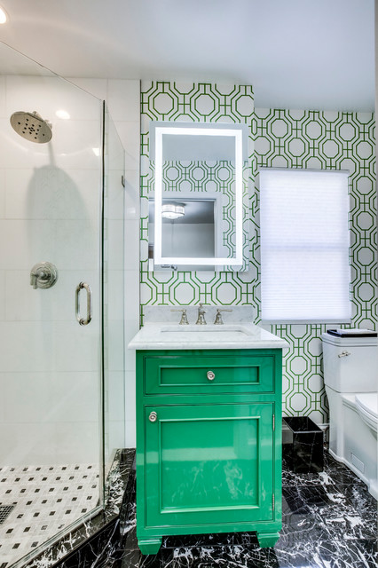 Green With Envy - Old Town Alexandria Bathroom