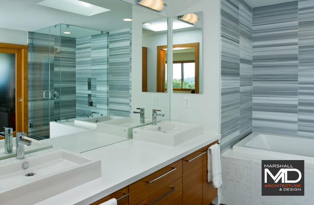 Greenbrae Before/After contemporary-bathroom