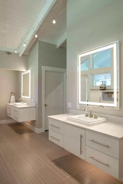 Greene county master bathroom contemporary bathroom for Using track lighting in bathroom