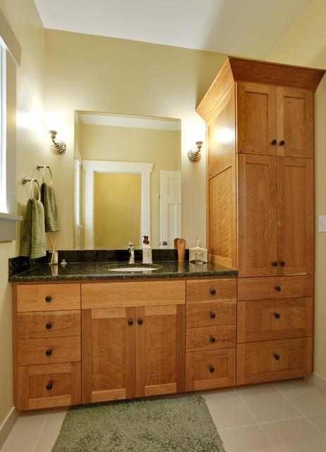 Greenlake Custom Home Craftsman Bathroom Seattle By Ventana - Bathroom furniture seattle