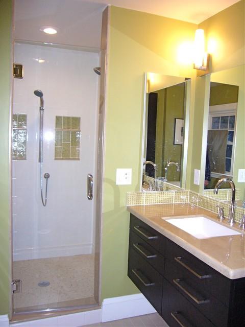 Greens contemporary-bathroom