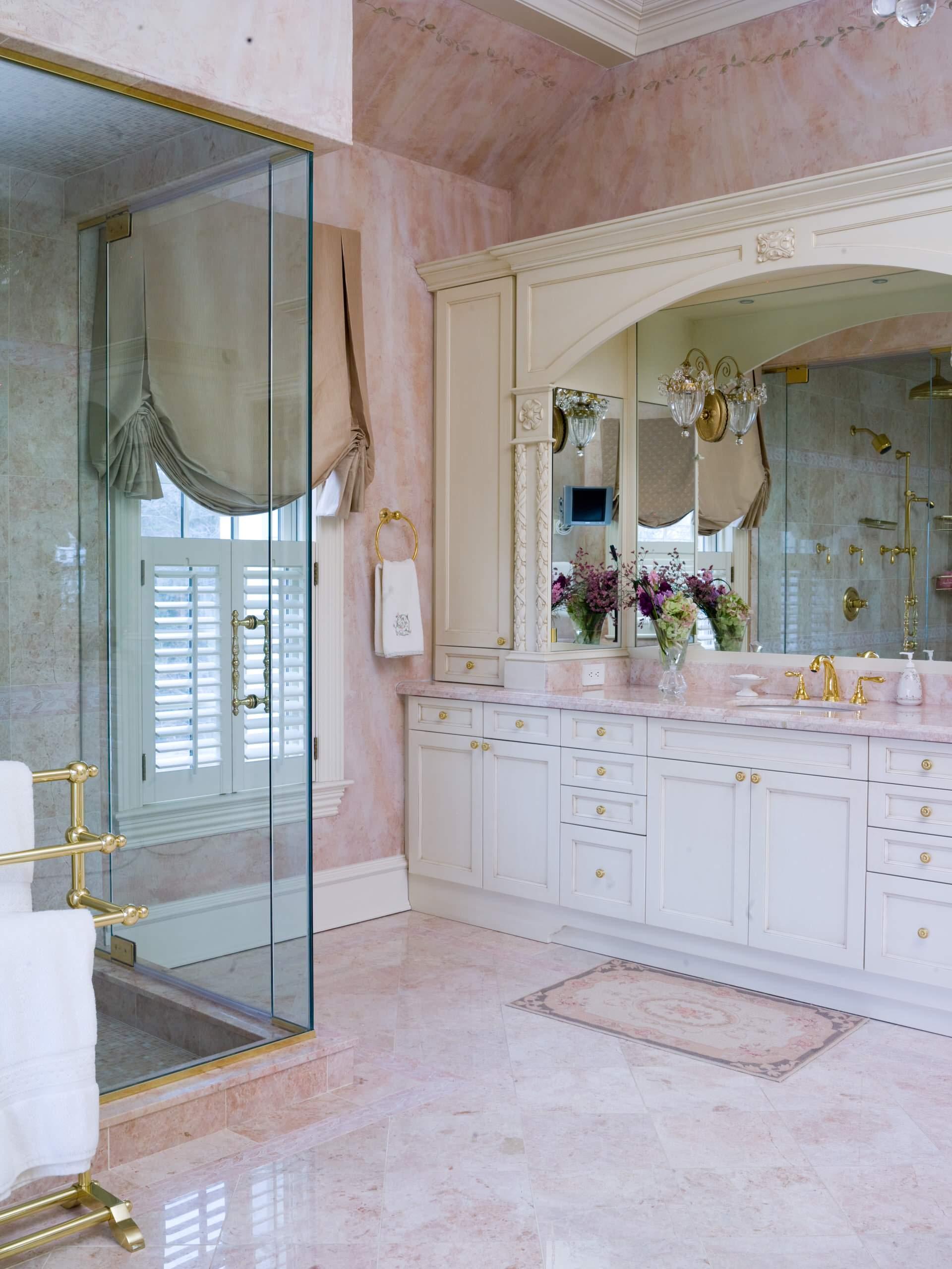 Pink Marble Floor Houzz