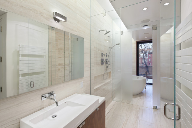 Greenwich village townhouse modern bathroom new york for Townhouse bathroom ideas