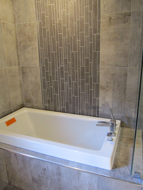 Grey Accent - Contemporary - Bathroom - toronto - by aneta zygmunt design