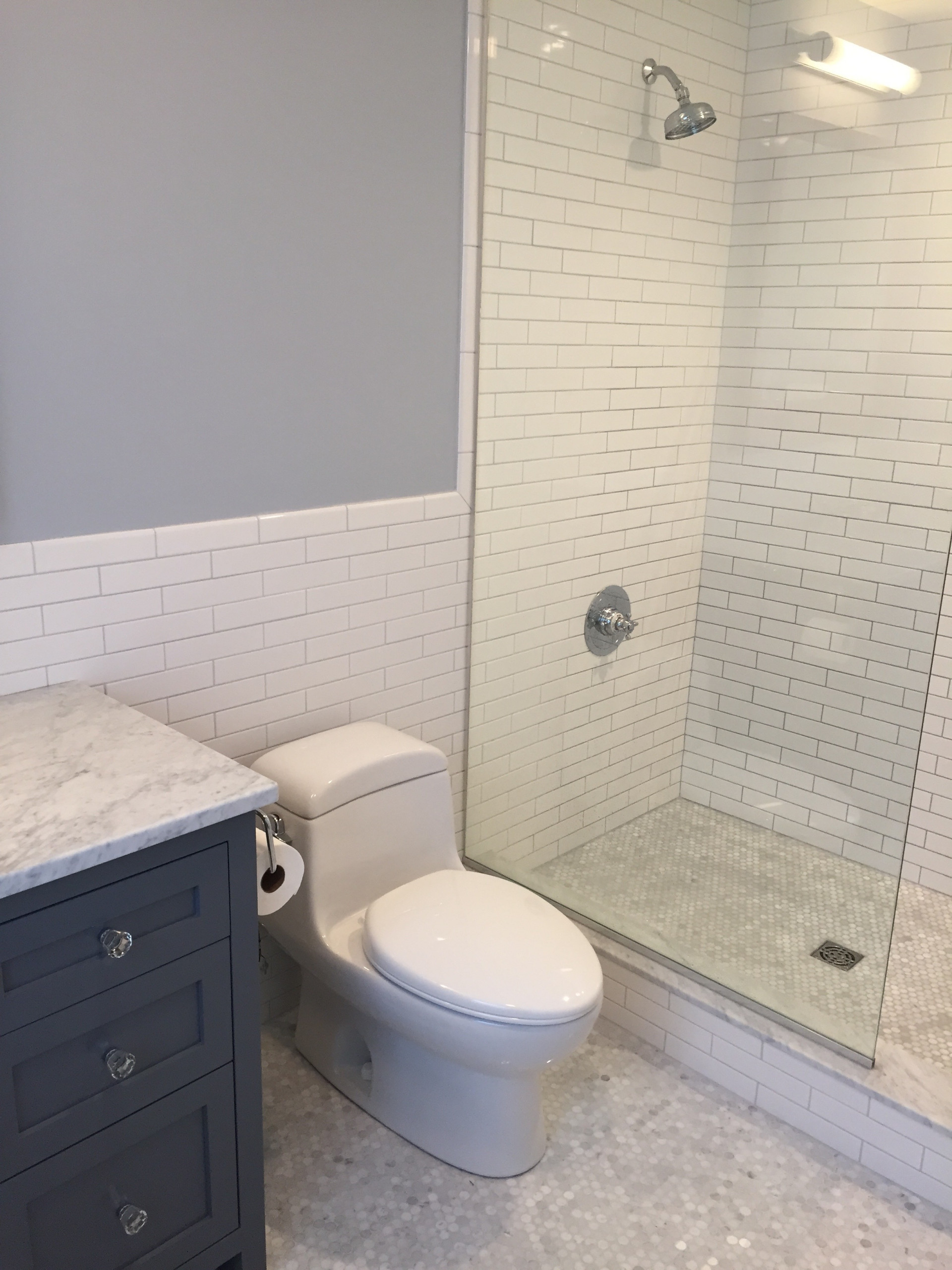 75 Beautiful Traditional Doorless Shower Pictures Ideas May 2021 Houzz