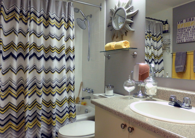 grey and yellow bathroom. Grey and Yellow Bathroom contemporary bathroom  Contemporary Toronto by