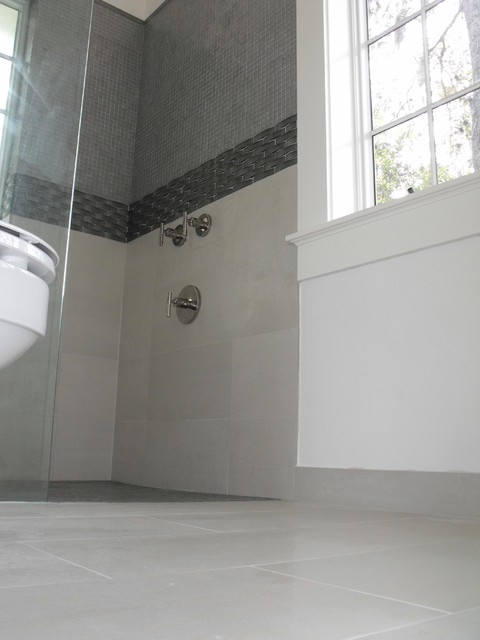 Grey Glass Bathroom Modern Bathroom Jacksonville By Eberling. Grey Modern Bathroom  Through To A Separate WC Has Gained More