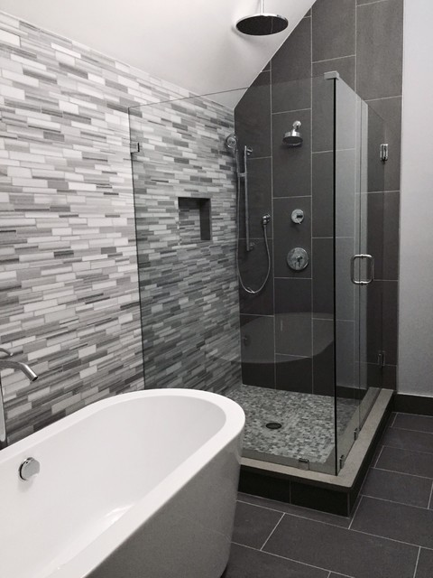 Grey Modern Master Bathroom