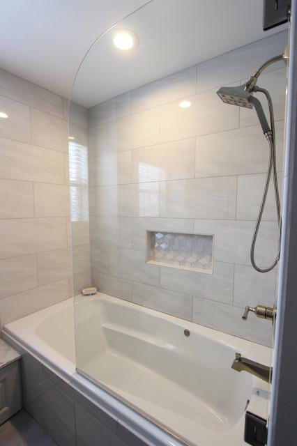 Grey Tiled Bathroom And Shower ~ Streetsboro, OH ...
