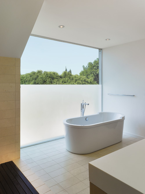 modern frosted bathroom window