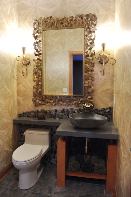 Inspiration for a transitional bathroom remodel in Minneapolis