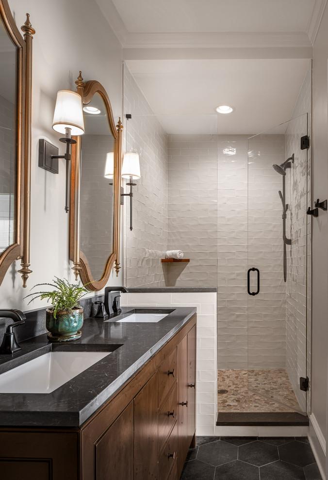 Guest & Master Bathroom Remodel in Atlanta - Transitional ...